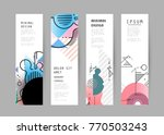 vector vertical banner design | Shutterstock .eps vector #770503243