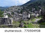 abandoned  old greek houses of ... | Shutterstock . vector #770504938