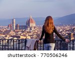 girl looking at the city of... | Shutterstock . vector #770506246