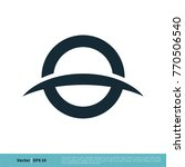 o letter and swoosh icon vector ... | Shutterstock .eps vector #770506540