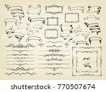 vintage calligraphy  design... | Shutterstock .eps vector #770507674