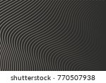 black wavy background ... | Shutterstock .eps vector #770507938