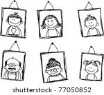 Sketches Of Family Members In...