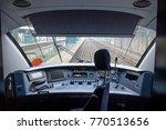 empty train cabin of driver.... | Shutterstock . vector #770513656