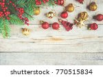 christmas background. selective ... | Shutterstock . vector #770515834
