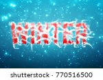 winter blue background with... | Shutterstock .eps vector #770516500
