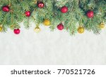 christmas background. selective ... | Shutterstock . vector #770521726