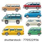 van car vector auto vehicle... | Shutterstock .eps vector #770522956