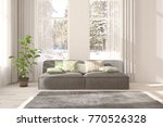white room with sofa and winter ... | Shutterstock . vector #770526328
