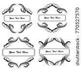 set of vector vintage frames on ... | Shutterstock .eps vector #770527570