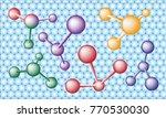 molecular science theme... | Shutterstock .eps vector #770530030