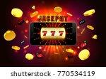 jackpot lucky wins golden slot...   Shutterstock .eps vector #770534119