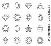 gems set. jewels and diamonds... | Shutterstock .eps vector #770536189
