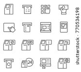 atm terminal icon set.... | Shutterstock .eps vector #770536198