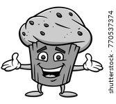 blueberry muffin illustration   ...   Shutterstock .eps vector #770537374