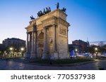 arch of peace  arco della pace  ...   Shutterstock . vector #770537938