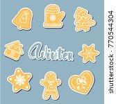 hello december poster  card.... | Shutterstock .eps vector #770544304