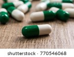 heap of green and white...   Shutterstock . vector #770546068