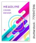 heerful template with headline ... | Shutterstock .eps vector #770547346