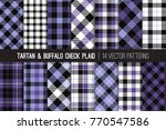 Ultra Violet And Blue Tartan...