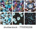 vector seamless pattern flowers ...   Shutterstock .eps vector #770550208