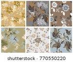 vector seamless pattern flowers ...   Shutterstock .eps vector #770550220