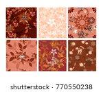 vector seamless pattern flowers ...   Shutterstock .eps vector #770550238