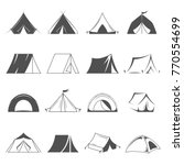 hiking and camping tent vector... | Shutterstock .eps vector #770554699
