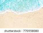 soft waves with foam blue ocean ... | Shutterstock . vector #770558080