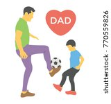 a father and son playing... | Shutterstock .eps vector #770559826
