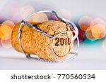 champagne cork   new year 2018 | Shutterstock . vector #770560534