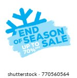 end of season sale up to... | Shutterstock .eps vector #770560564