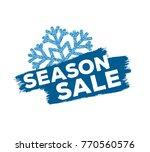 end of season sale inscription... | Shutterstock .eps vector #770560576