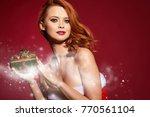 beautiful sexy girl wearing...   Shutterstock . vector #770561104