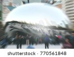 commuters crossing at rush hour ... | Shutterstock . vector #770561848