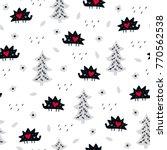 seamless creative pattern.... | Shutterstock .eps vector #770562538