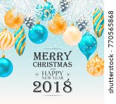 merry christmas greeting... | Shutterstock .eps vector #770565868