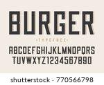 burger vector retro regular... | Shutterstock .eps vector #770566798