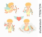 vector collection of cute... | Shutterstock .eps vector #770567194