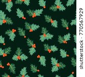 festive seamless pattern in... | Shutterstock .eps vector #770567929