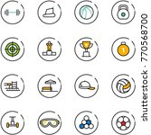 line vector icon set   barbell... | Shutterstock .eps vector #770568700