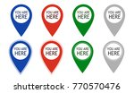 you are here icons. info speech ...   Shutterstock .eps vector #770570476
