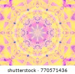 digital retro abstract mandala. ... | Shutterstock . vector #770571436