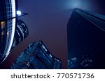skyscraper glass facades. view... | Shutterstock . vector #770571736
