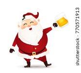 cute  funny  happy santa claus... | Shutterstock . vector #770571913