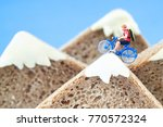 A Toy Cyclist Is Taking A Ride...