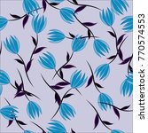 seamless background. flowers.  | Shutterstock . vector #770574553