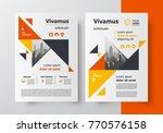brochure design template flyer... | Shutterstock .eps vector #770576158