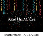 new year eve background with... | Shutterstock .eps vector #770577838