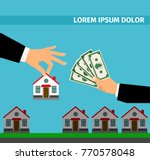 buy house banner concept for... | Shutterstock .eps vector #770578048
